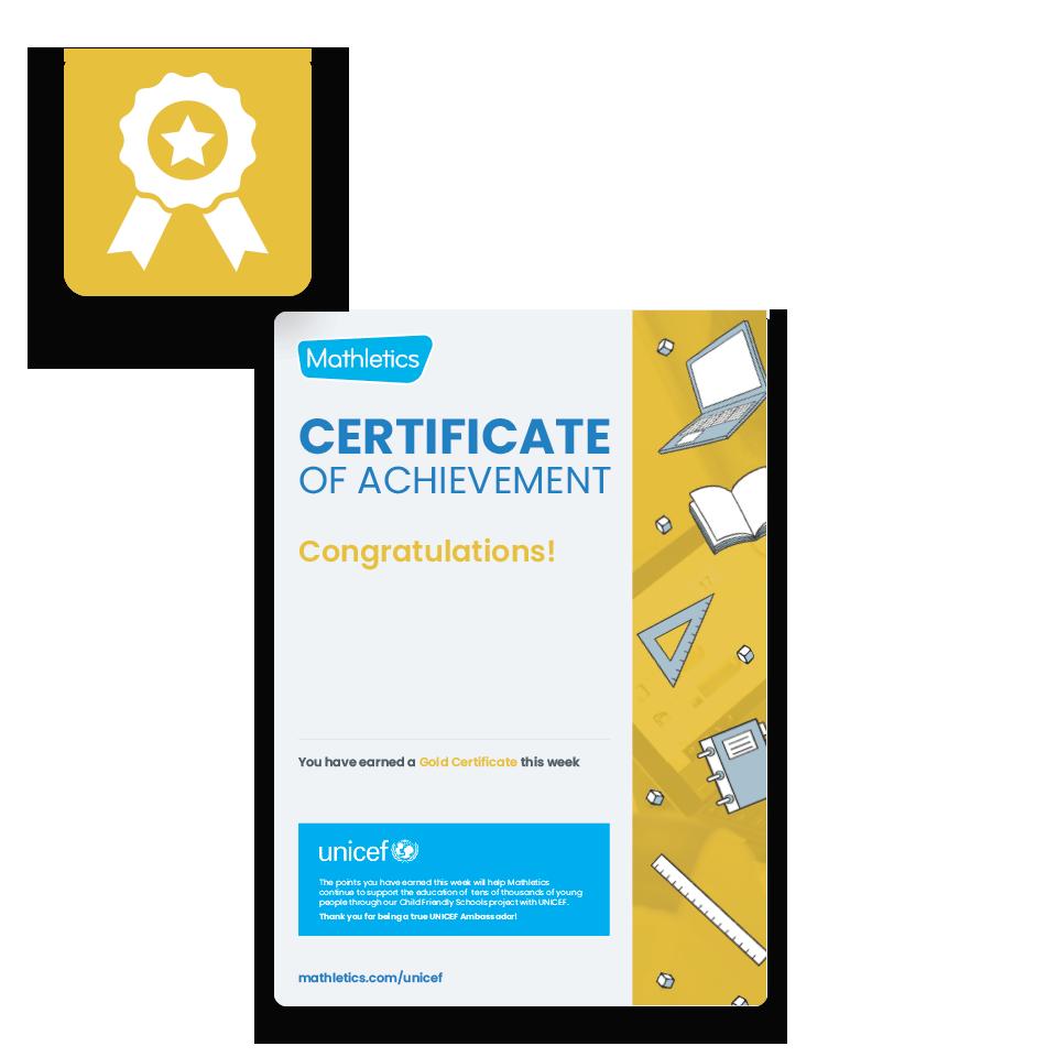 Mathletics Resources - Certificates
