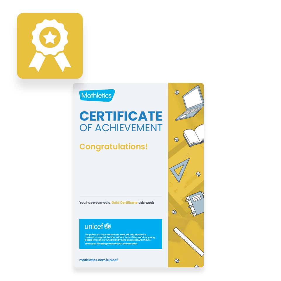Mathletics Resources - Certificates