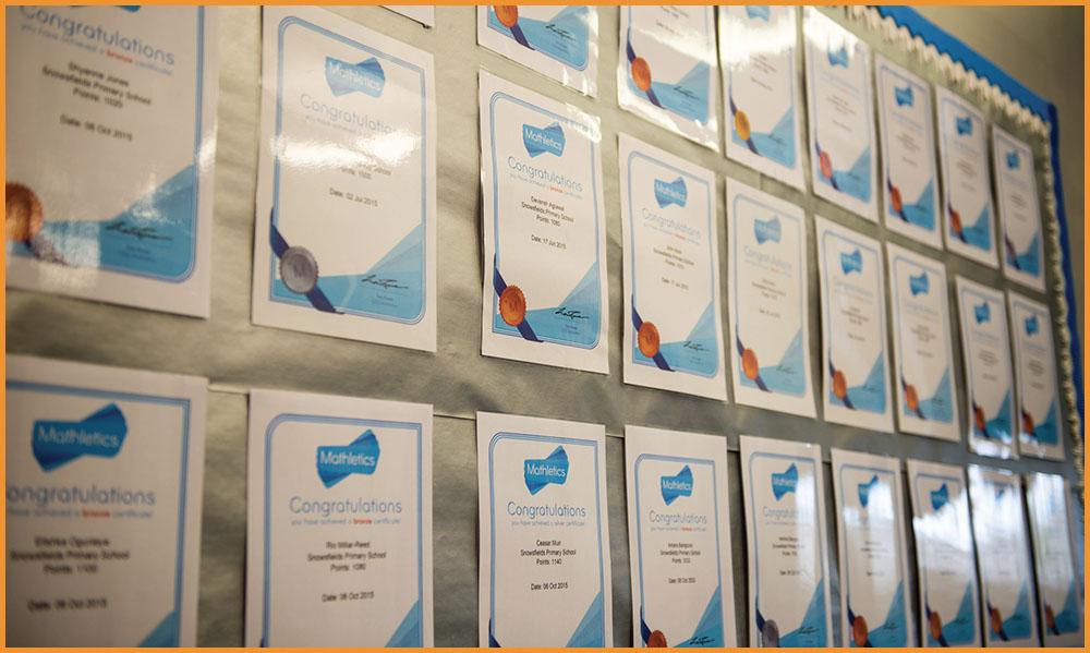 Mathletics certificates