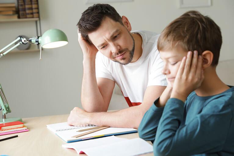 Parent struggling with homework